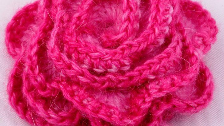 Crocheted Rose Pattern – Knitting and Crochet