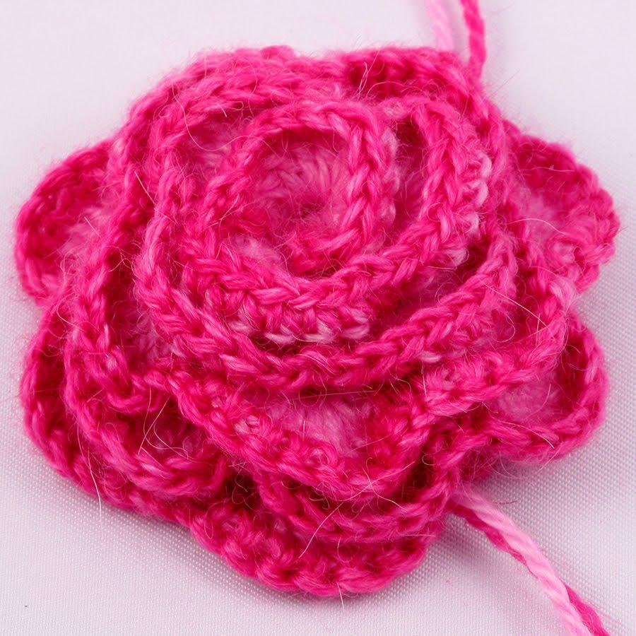 Crocheted Rose Pattern - Knitting and Crochet - Knittting ...