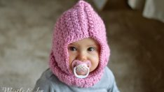 Crochet Baby Hooded Cowl