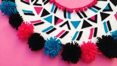 DIY PomPom Collar