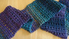 Free Knitting Pattern: Tweedy Eyelet Scarf