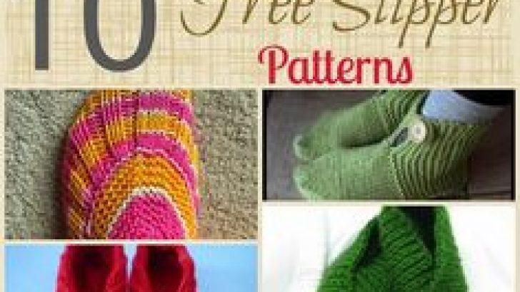 Hand knitted slipper socks