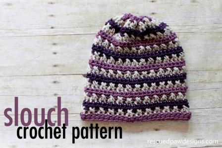 Sugared Plum Slouch – Crochet Pattern