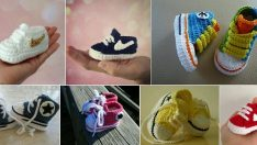 Super Stylish Nike Inspired Crochet Baby Booties