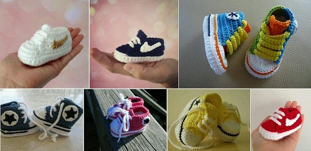 Super Stylish Nike Inspired Crochet Baby Booties