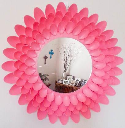Video Mirror with plastic spoon