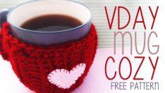 VALENTINE'S DAY MUG COZY (FREE PATTERN)