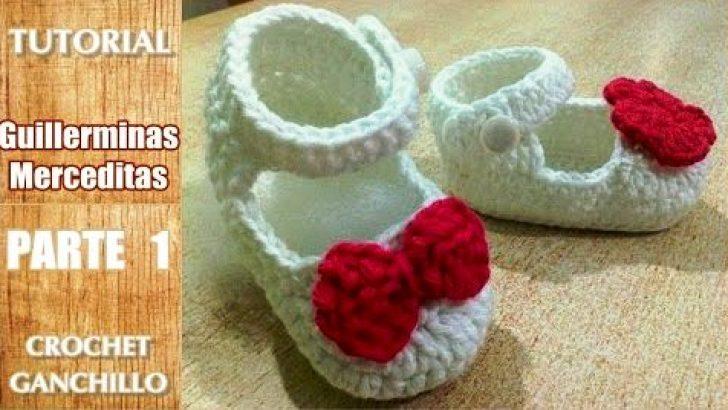 DIY Como tejer escarpines, merceditas, guillerminas a crochet, ganchillo