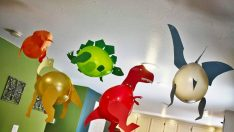 Dinosaur Party Decorations with Balloons