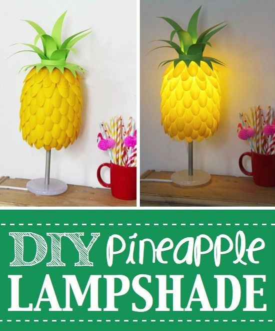 Made from Plastic Spoon pineapple shaped lampshades (2)
