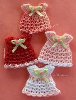 Souvenir A Crochet Para Baby Shower Vestidito Paso A Paso