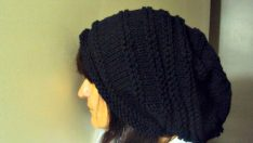 Super Slouchy Beanie Baggy Hat Black Celebrity Hat Unisex Dreadlock Hat Gift Ideas