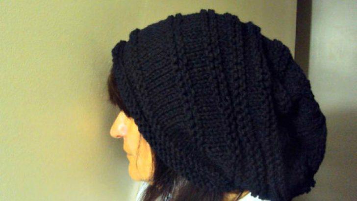 Super Slouchy Beanie Baggy Hat Black Celebrity Hat Unisex Dreadlock Hat Gift Ideas