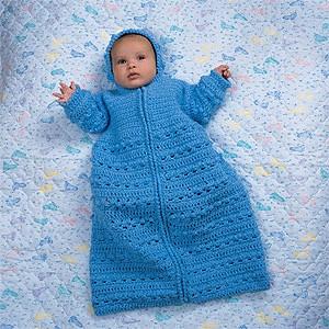 Knit Baby Bunting Car Seat