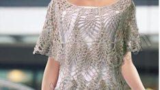 Crochet – Blusa Cinza V