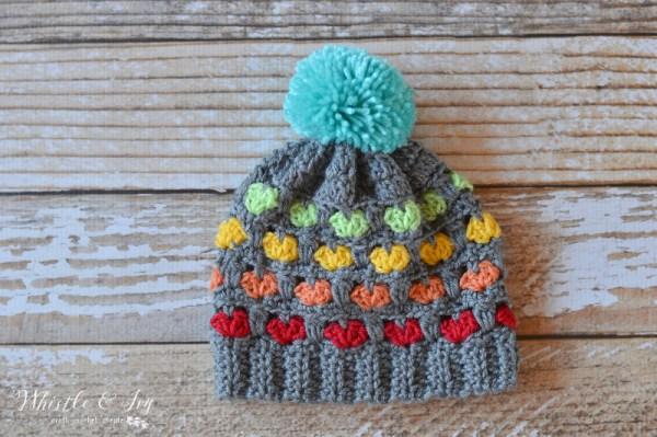 Free Pattern Toddler Puppy Love Hat (2)