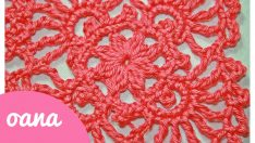 Crochet lace square
