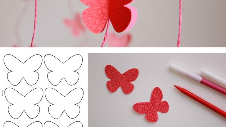 Paper Butterfly Wall Decor Ideas
