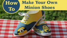 Easy DIY Minion Canvas Shoes