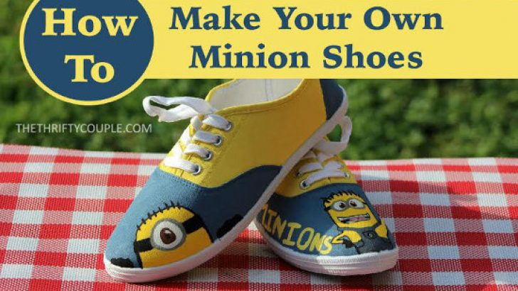 Easy DIY Minion Canvas Shoes