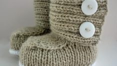 Knitted Boots for Babies