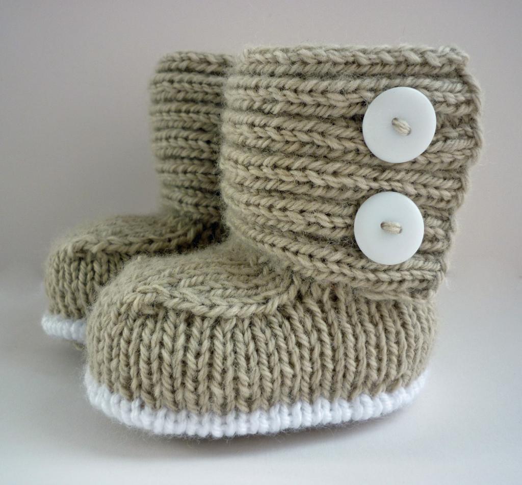 Knitted Boots for Babies - Knittting Crochet - Knittting Crochet