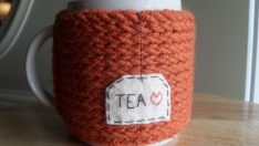 Making Drinking Cup Cases with the Help of Knitting