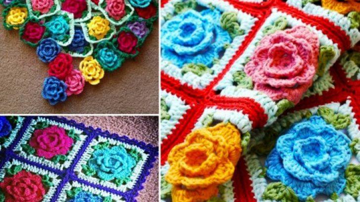 Crochet Rose Blanket