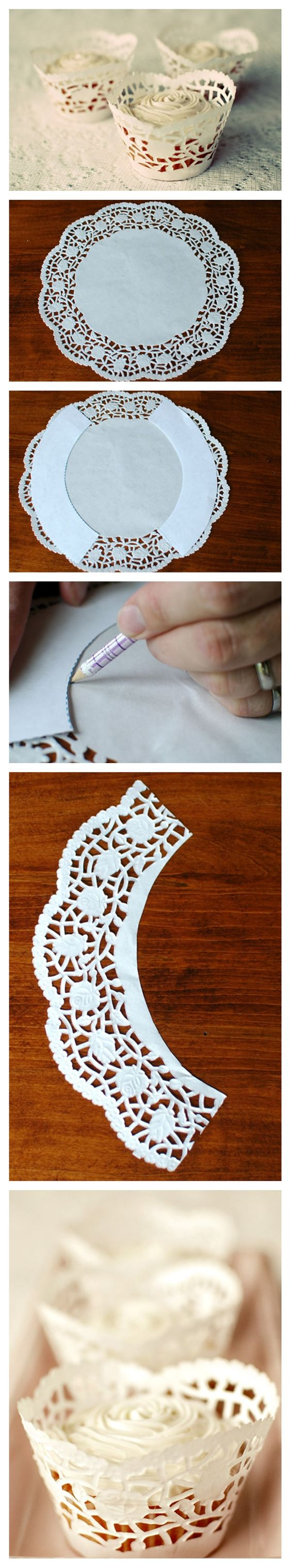 Cupcake Wrappers Made from Doilies Free Cupcake Wrapper Templat