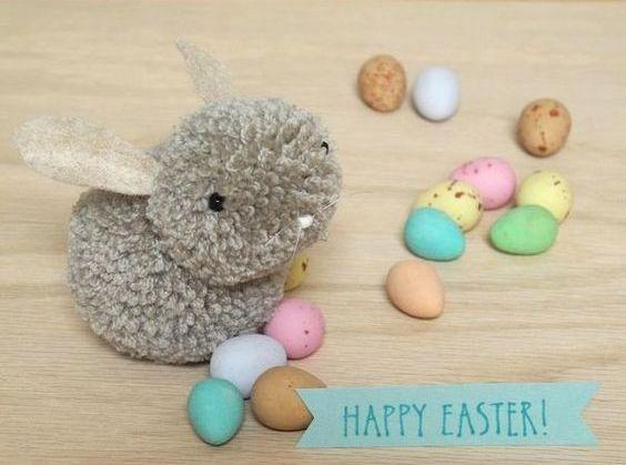 Diy pom pom bunny tutorial knitting crochet d y craft for Pom pom craft patterns