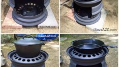 DIY Stove made from Tire Rims