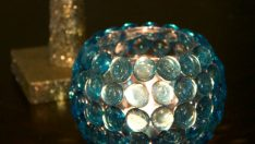 DIY glass bead candle holder is simple, easy and an inexpensive craft.