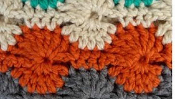 How To Crochet Catherine Wheel Stitch – Right Hand