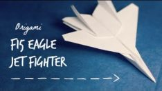 How to make an F15 Eagle Jet Fighter Paper Plane Dıy
