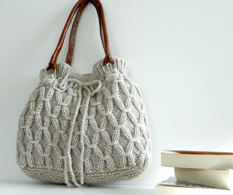 How To Make Knitted Bags? - Knittting Crochet - Knittting Crochet