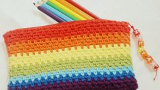 Pencil Box Made With Crocheted