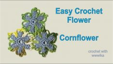 Easy Crochet Flower Cornflower