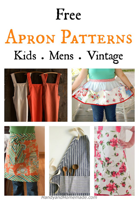 Free DIY Apron Sewing Patterns  Kids, Men, Vintage
