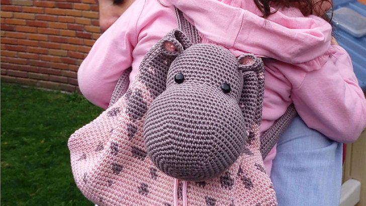 Hippo Backpack crochet pattern