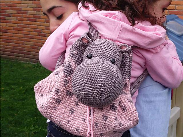 Hippo Backpack Crochet Pattern Knittting Crochet Knittting Crochet
