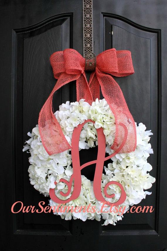 Hydrangea Wreath - Spring Wreath for Summer Wreath - Wreath for Door Door Wreath - Wreaths - Grapevine Wreath