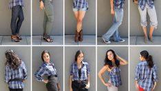 Make dress from mens shirt