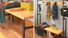 Build a Bench & Coat Rack from Pipes
