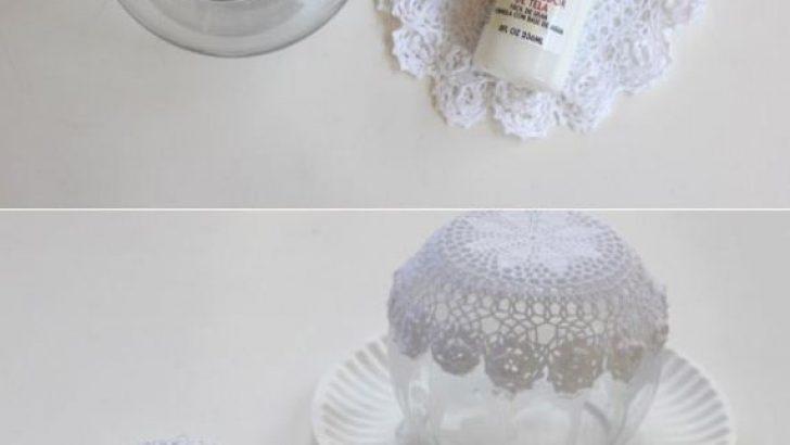Dıy Room Decor Lace Doil Bowl