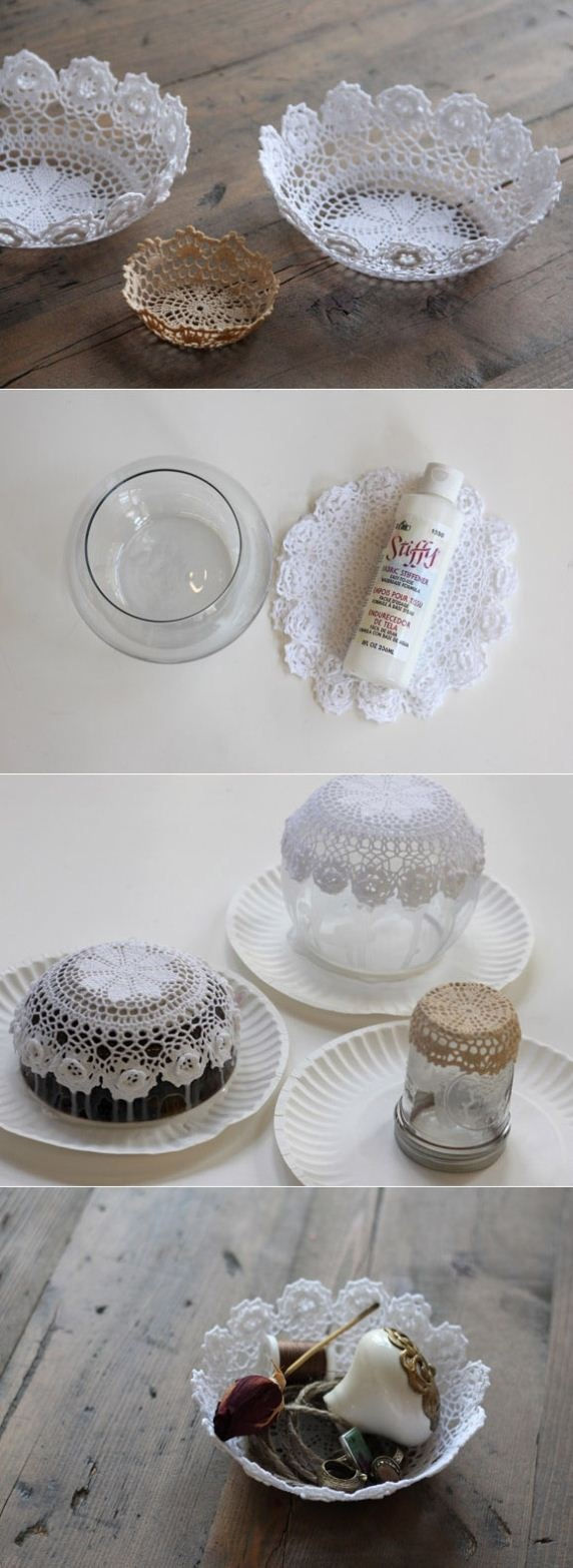 Dıy Room Decor Lace Doil Bowl (2)