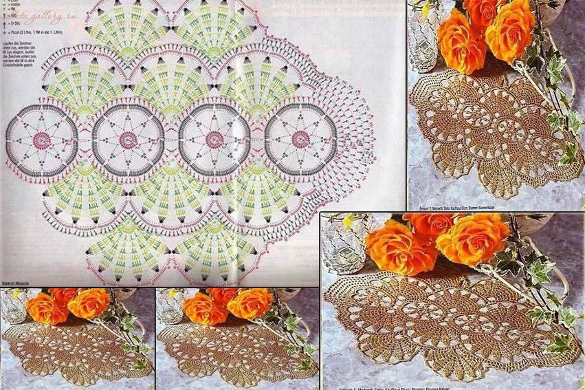 Free crochet table runner patterns 102 knitting for 102 table runners