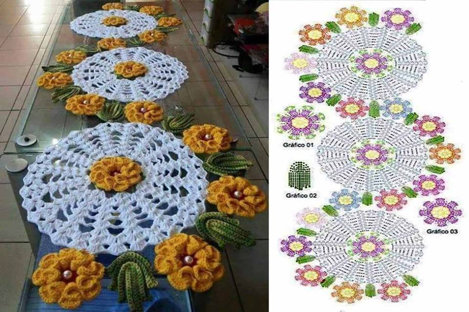 Free Crochet Table Runner Patterns (146) - Knitting ...