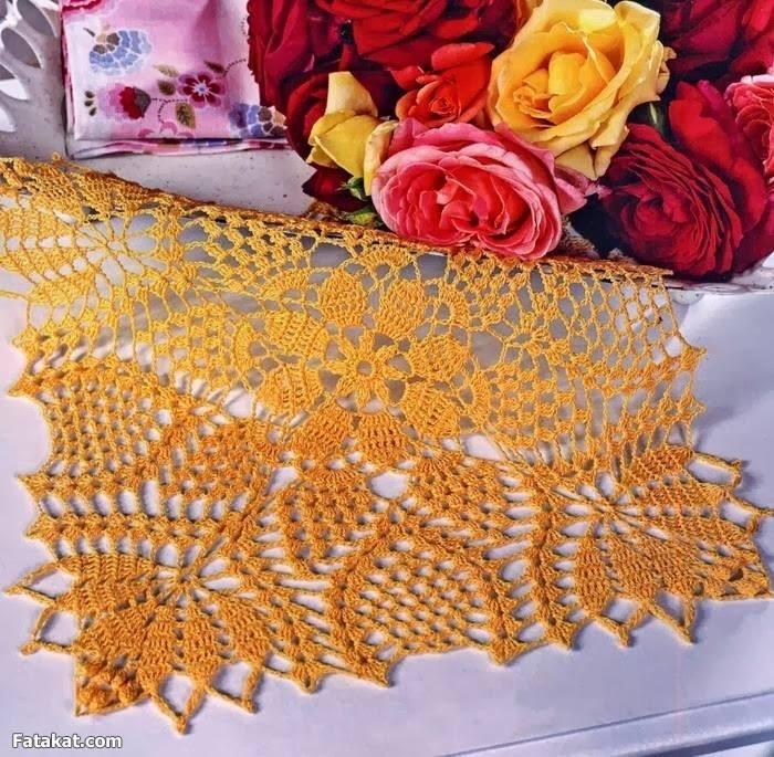 Free crochet table runner patterns 154 knitting for Table knitting