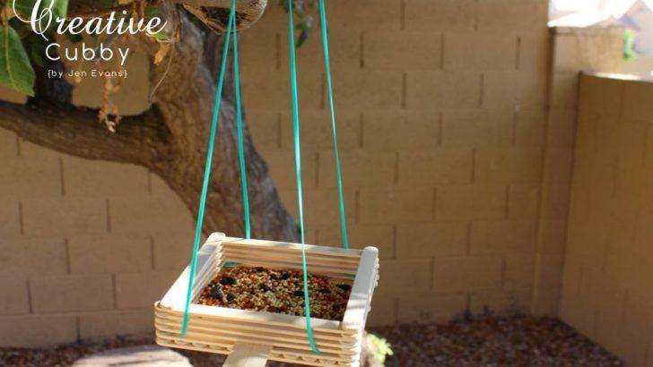 POPSICLE STICK BIRD FEEDER – DIY