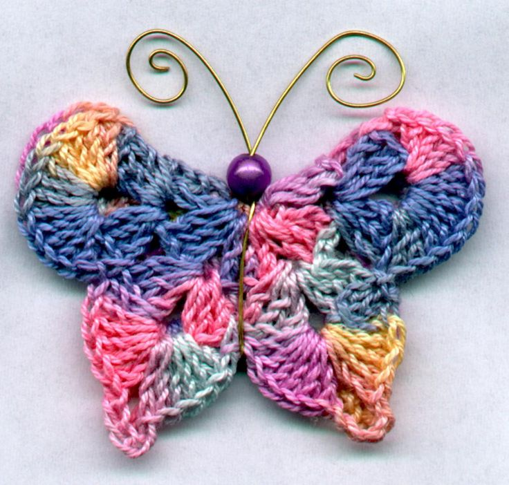 Knitting Pattern Butterfly : Crochet butterfly knitting dıy craft free